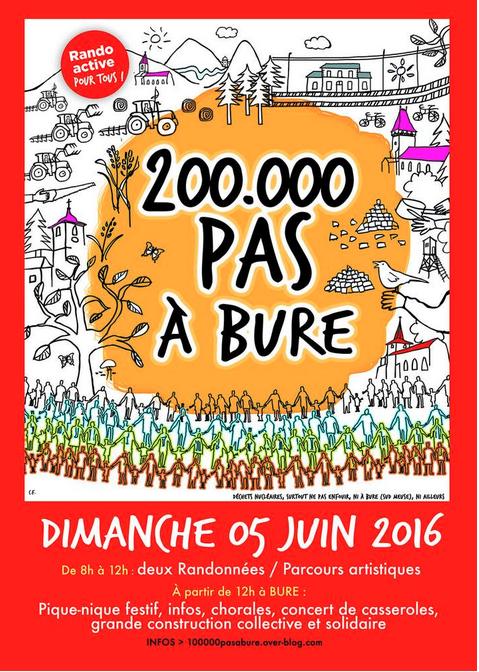 200 000 pas à Bure
